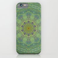 liquid green mandala? iPhone 6 Slim Case