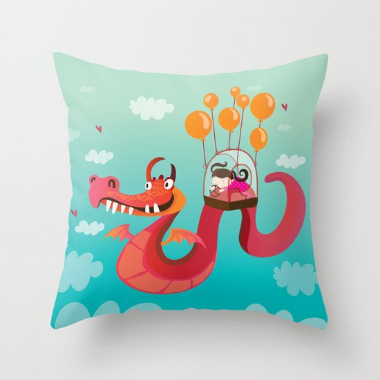 Dragona Throw Pillow