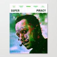 Super Piracy Canvas Print