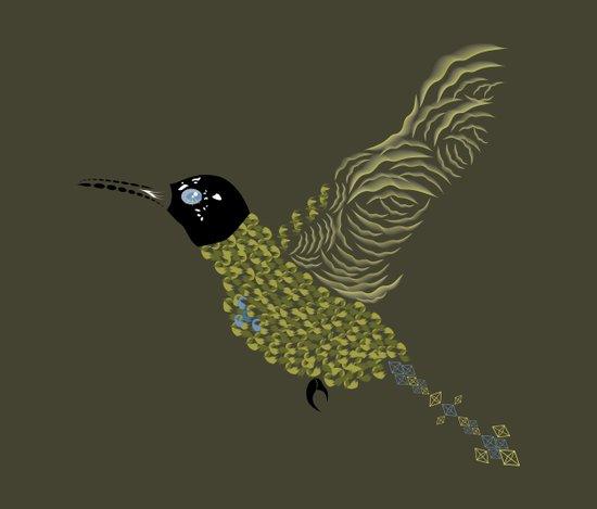 Abstract Hummingbird Canvas Print