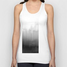 Modern Black and White Watercolor Gradient Unisex Tank Top