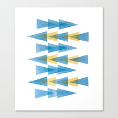 Blue & Yellow Arrows Canvas Print