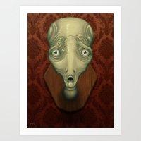 Shocked Alien Art Print