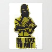 WRG - Weekly Riot Group Canvas Print
