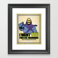 Skeletor - We Want You F… Framed Art Print