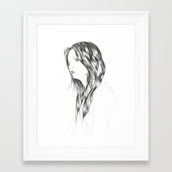 People Portrait 1 Framed Art Print