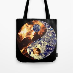 Fire & Ice Yin Yang Tote Bag