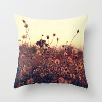 Desert Dandelion Throw Pillow