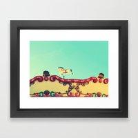 The hidden funfair horse Framed Art Print