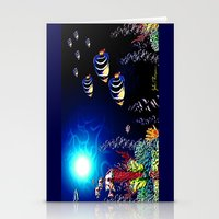 Deep Blue 3 Stationery Cards