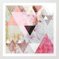 pastel Art Prints featuring Graphic 3 by Mareike Böhmer