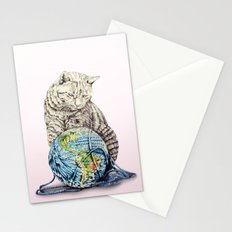 In which our feline deity shows restraint  Stationery Cards