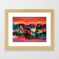 City of colour and lights Framed Art Print