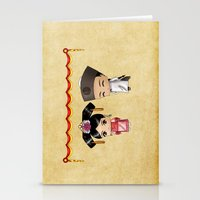 Chinese Chibis Stationery Cards