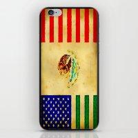 MEXICAN AMERICAN FLAG - … iPhone & iPod Skin