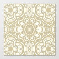 Lace Floral Sand On Ivor… Canvas Print