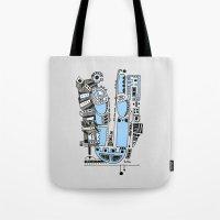 Sad Robot Tote Bag