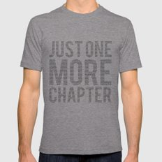 Just One More Chapter  Mens Fitted Tee Tri-Grey SMALL