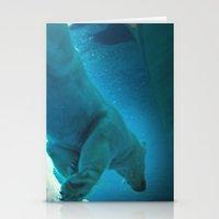Polar Bear dive Stationery Cards