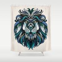 Blue Lion Shower Curtain