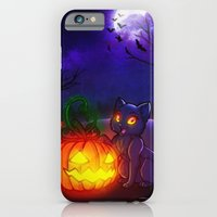 iPhone & iPod Case featuring Halloween Kitty by Lila Cattis