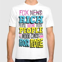 Fox News: Rich People, P… Mens Fitted Tee White SMALL