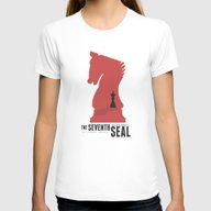 The Seventh Seal - Class… Womens Fitted Tee White SMALL