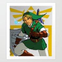 The Legend Of Zelda: Lin… Art Print