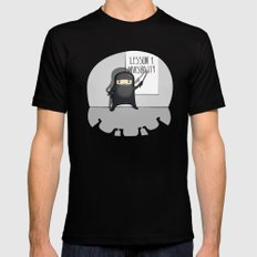 Ninja lessons: Invisibility. SMALL Mens Fitted Tee Black