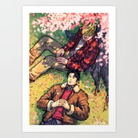 William and Theodore 20 Art Print