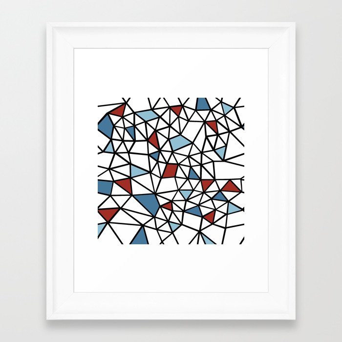 Snap RED WHITE and BLUE Framed Art Print by RokinRonda Society6 ...