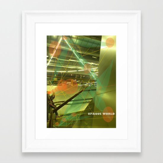 Photographer of steel stairs Framed Art Print