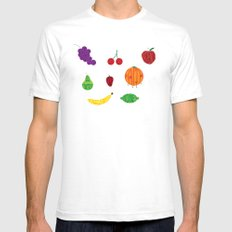 Fruits of the Spirit White Mens Fitted Tee SMALL