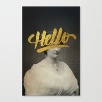 Vintage Quotes Collection -- Hello Canvas Print