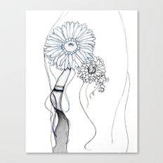 Flower Hair Canvas Print