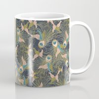 Peacock Feathers And Art… Mug