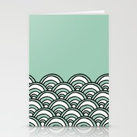 Waves Mint Stationery Cards