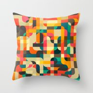 Throw Pillow featuring Retrospector by Jazzberry Blue