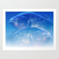 Pisces - Fishes Art Print