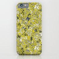 A1B2C3 chartreuse iPhone 6 Slim Case
