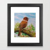 A Brown Bird Framed Art Print