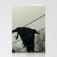 No fences can hold me Stationery Cards