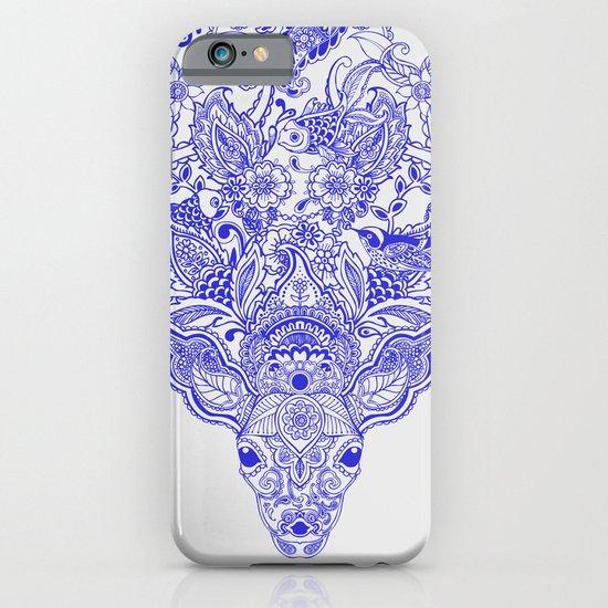 Little Blue Deer iPhone & iPod Case