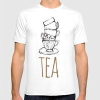 Just Tea Mens Fitted Tee White SMALL
