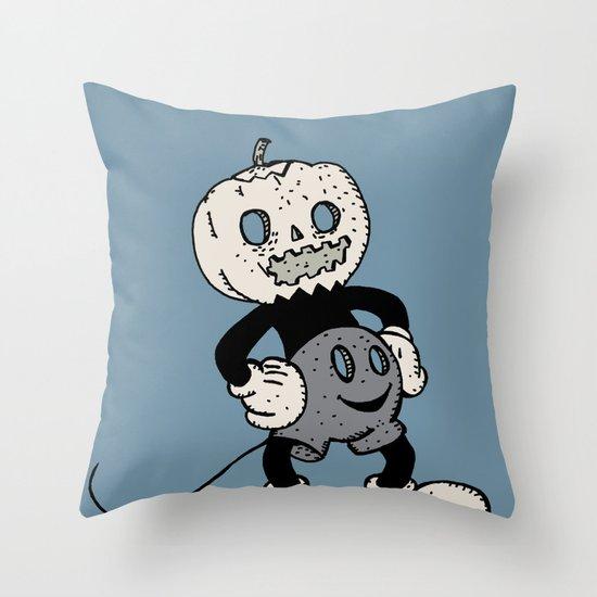 Mickey Pumpkin (desaturated) Throw Pillow