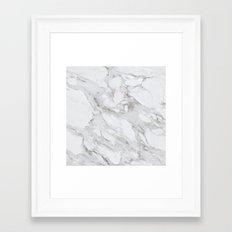 White Marble 01 Framed Art Print