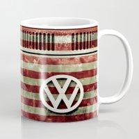 VW Retro US Flag Mug
