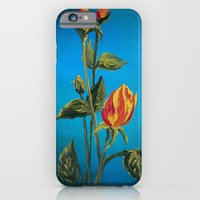 iPhone & iPod Case featuring Tahitian Sunset Rose Buds by Charlotte Curtis