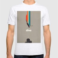 Dive Into My Soul Mens Fitted Tee Ash Grey SMALL