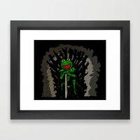 King Kermit Framed Art Print
